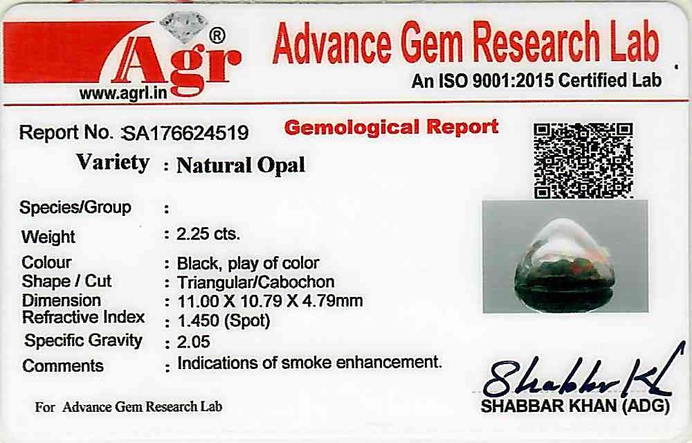 Black Opal - 2.25 carats