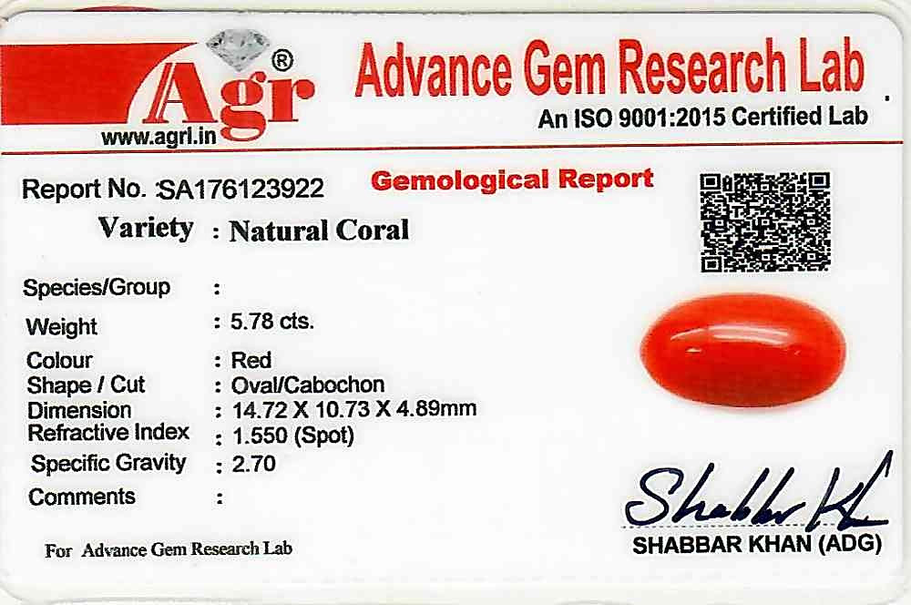 Red Coral - 5.78 carats