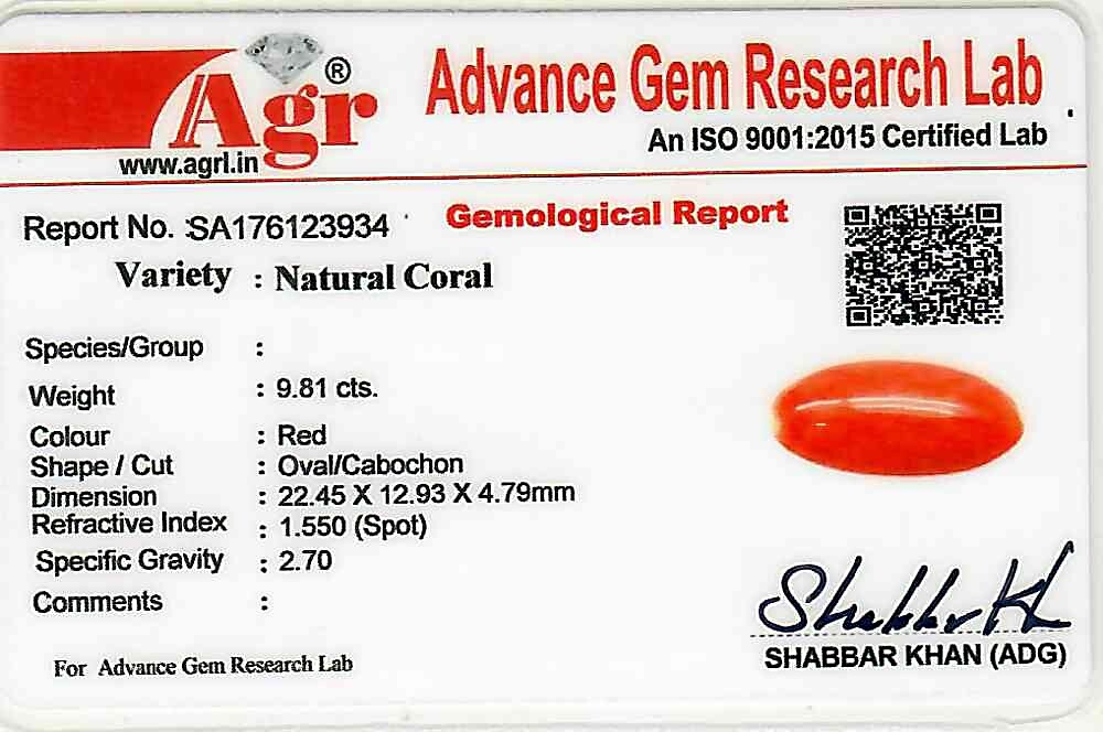 Red Coral - 9.81 carats