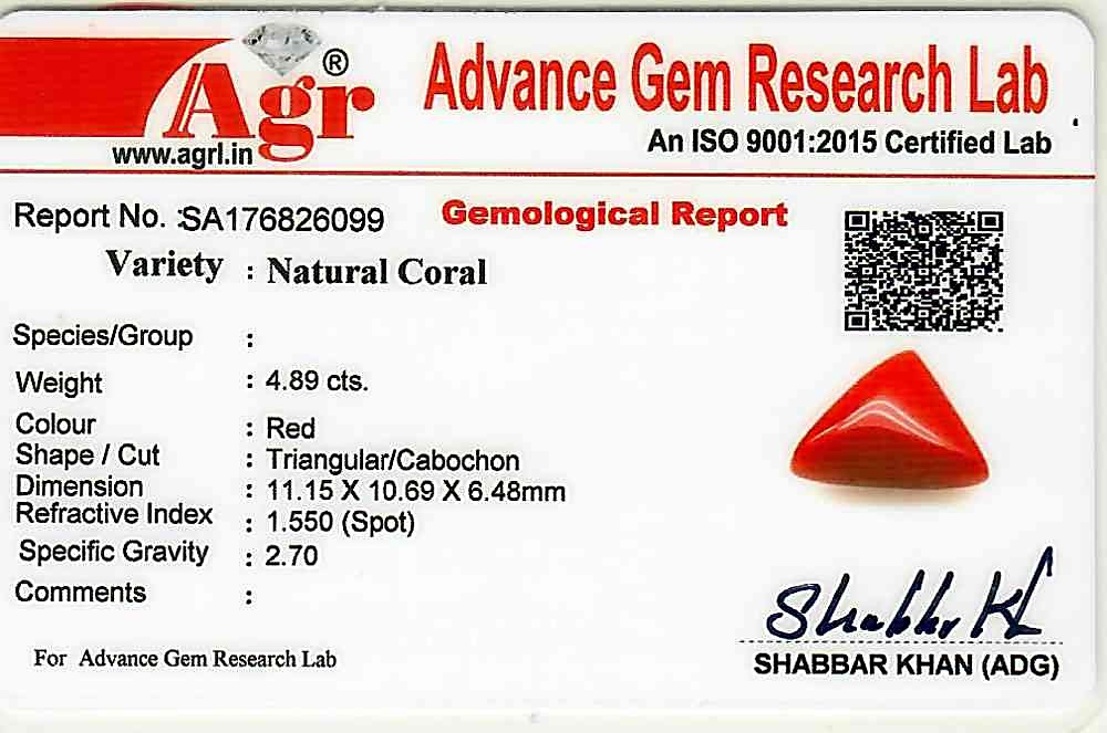 Red Coral - 4.89 carats