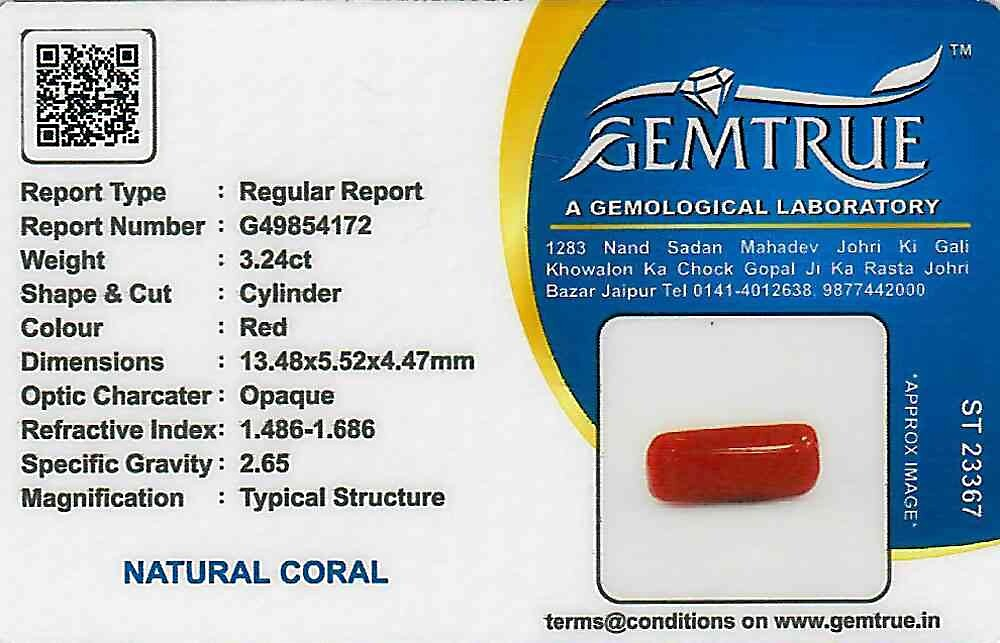 Red Coral - 3.24 carats