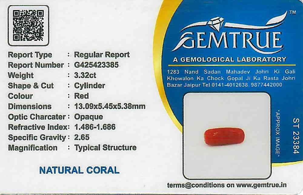 Red Coral - 3.32 carats