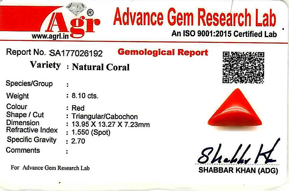 Red Coral - 8.10 carats