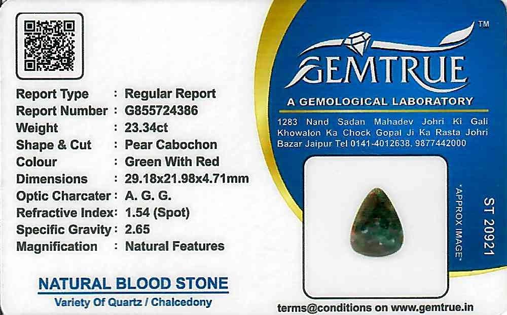 Bloodstone - 23.34 carats