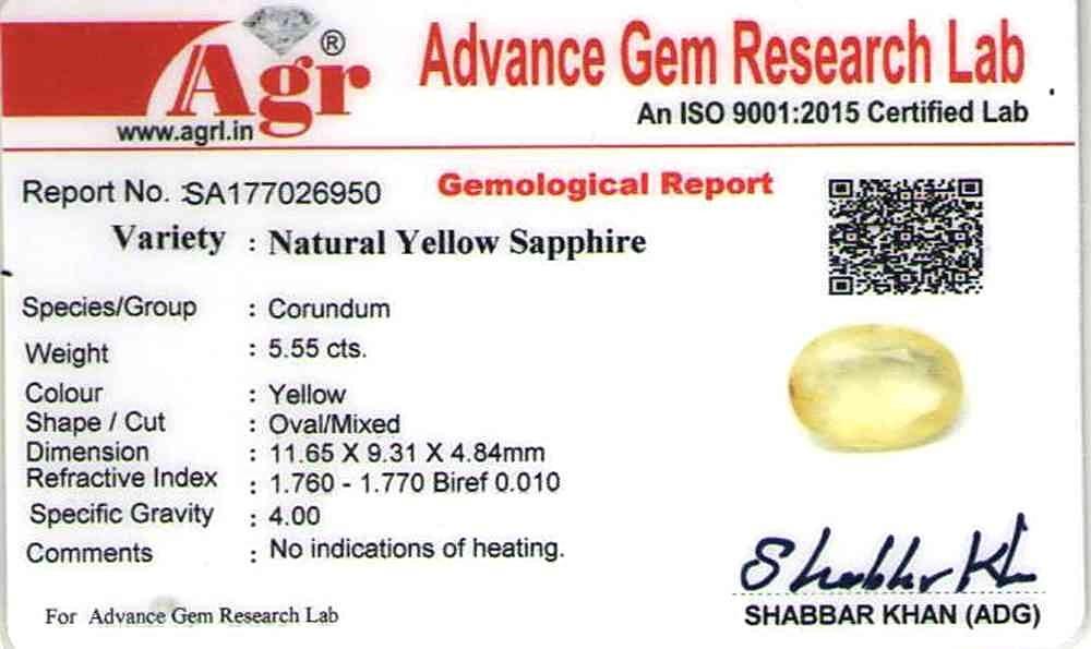 Yellow Sapphire - 5.55 carats