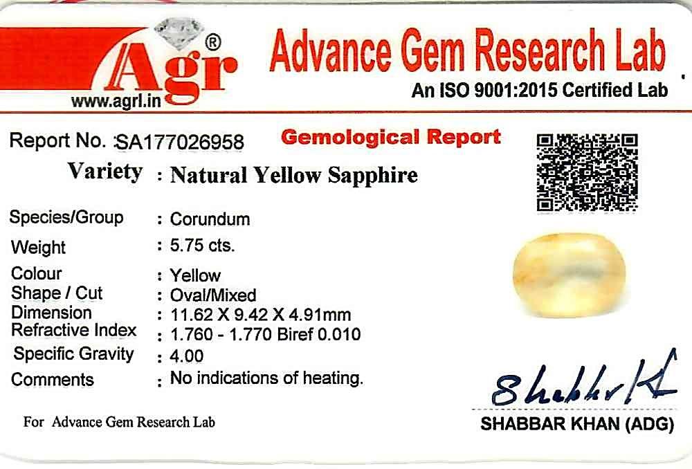 Yellow Sapphire - 5.75 carats