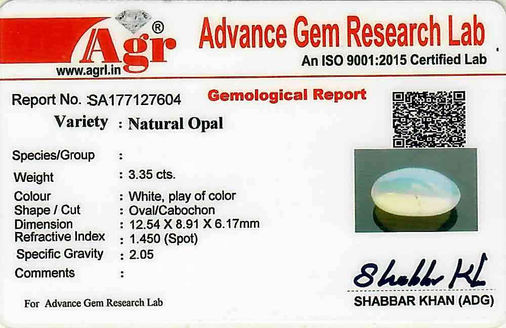 Opal - 3.35 carats