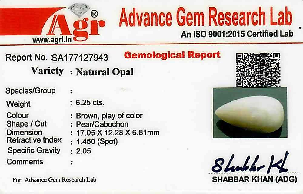 Fire Opal - 6.25 carats