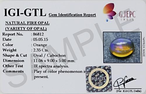 Fire Opal (Cabochon) - Ethiopian