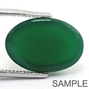 Green Onyx (Chalcedony) - Cabochon
