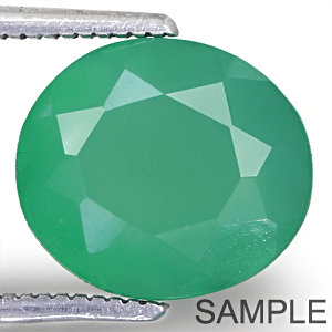 Green Onyx (Chalcedony) - Faceted