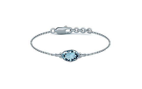 Aquamarine Sterling Silver Bracelet (B2) for Women