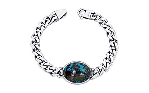 Azurite Silver Bracelet (B1)