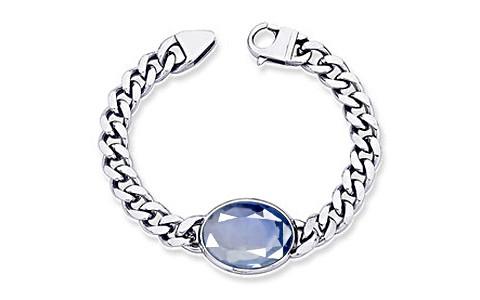 Blue Sapphire Silver Bracelet (B1)