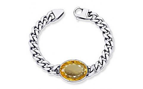 Citrine Silver Bracelet (B1)
