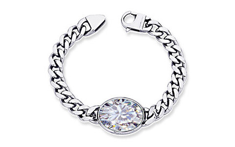 Cubic Zirconia Silver Bracelet (B1)