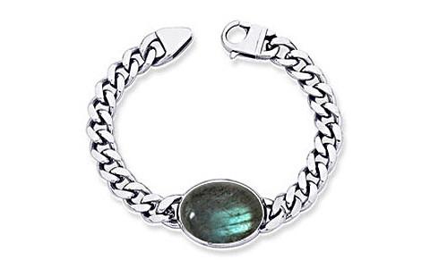 Labradorite Silver Bracelet (B1)