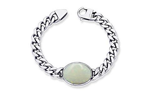 Opal With Fire Silver Bracelet (B1)