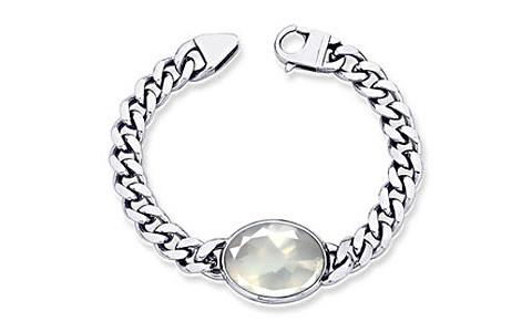 Rose Quartz Silver Bracelet (B1)