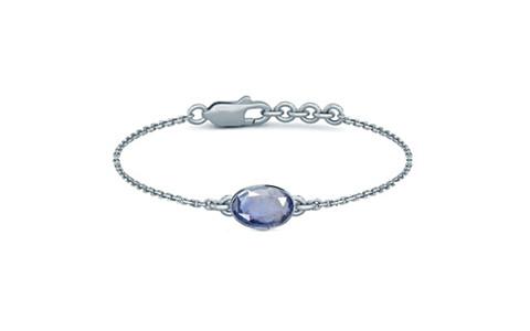 Blue Sapphire Sterling Silver Bracelet (B2) for Women
