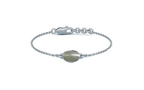 Cats Eye Sterling Silver Bracelet (B2) for Women