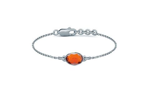 Hessonite Silver Bracelet (B2)