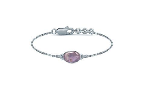 Purple Sapphire Sterling Silver Bracelet (B2) for Women