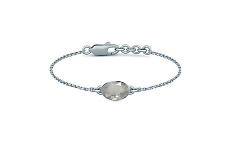 White Sapphire Sterling Silver Bracelet (B2)