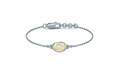 Yellow Topaz Sterling Silver Bracelet (B2) for Women