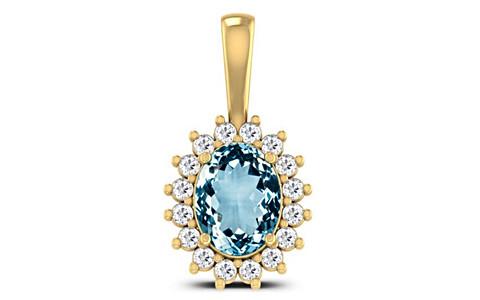 Aquamarine Gold Pendant (D4 SPARKLE)
