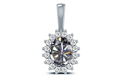 Cubic Zirconia Sterling Silver Pendant (D4 SPARKLE)