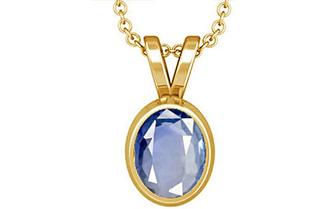 Blue Sapphire Gold Pendant (D1)