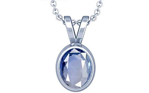 Blue Sapphire Silver Pendant (D1)