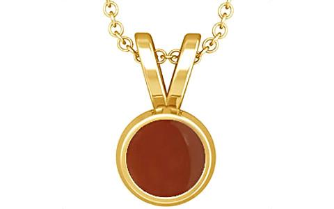 Carnelian Gold Pendant (Design D1)