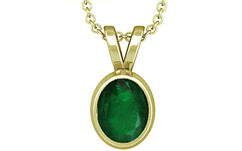 Emerald (Zambia) Panchdhatu Pendant (D1)