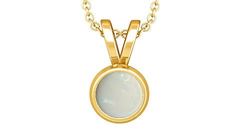 Fire Opal Gold Pendant (Design D1)