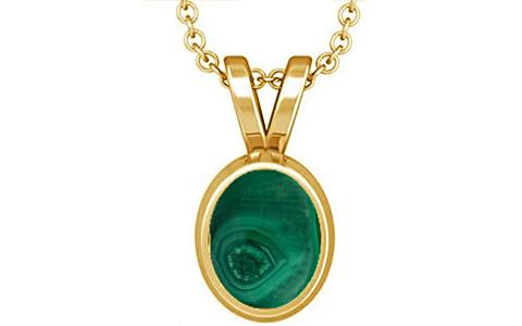 Malachite Gold Pendant (D1)