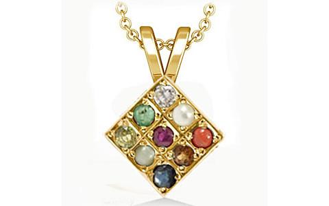 Navratna Gold Pendant (D1)