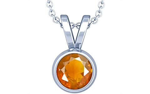 Fire Opal Sterling Silver Pendant (Design D1)