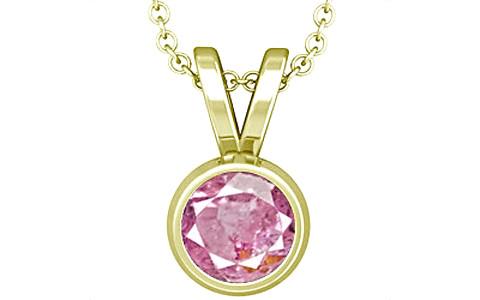 Pink Sapphire Panchdhatu Pendant (D1)