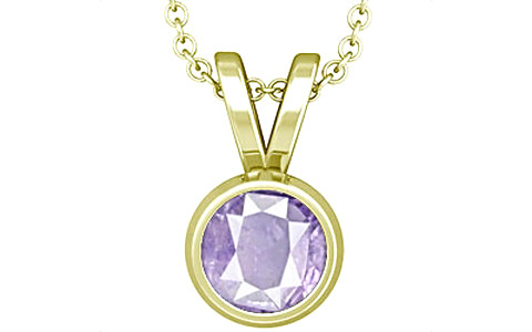 Purple Sapphire Panchdhatu Pendant (Design D1)
