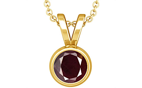 Indian Ruby Gold Pendant (D1)