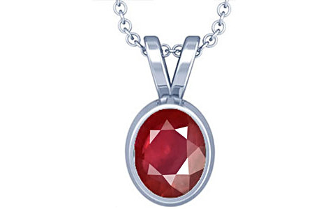 Ruby Silver Pendant (D1)