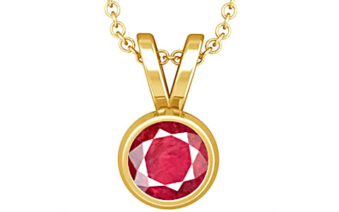 Ruby (Old Burma) Gold Pendant (D1)