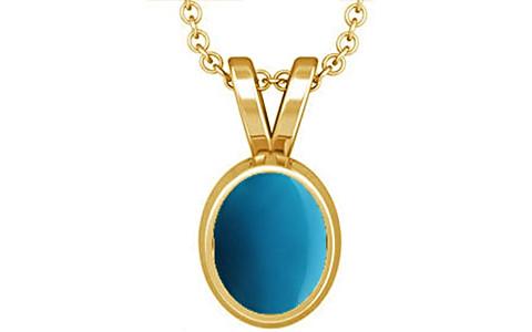 Turquoise Gold Pendant (D1)