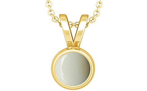 White Opal Gold Pendant (D1)
