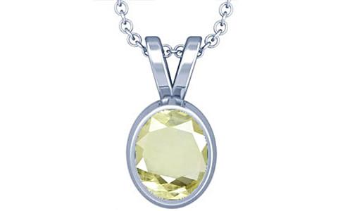 Yellow Sapphire Silver Pendant (D1)