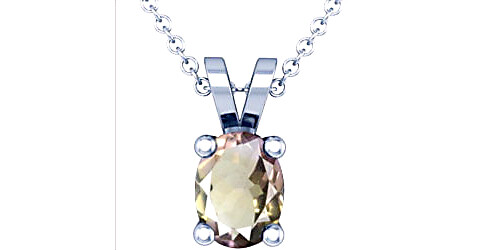 Ametrine Sterling Silver Pendant (Design D2)