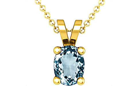 Aquamarine Gold Pendant (D2)