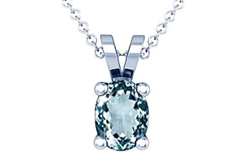 Aquamarine Silver Pendant (D2)